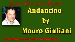 Andantino by Giuliani (www.learnclassicalguitar.com)