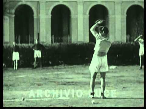 1931 - Il baseball giocato dagli studenti della Farnesina in Roma.