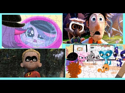 Littlest Pet Shop The Incredibles Cloudy with a Chance of Meatballs Puzzle Games For Kids