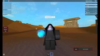 ROBLOX l palpatine shocks luke and gets killed