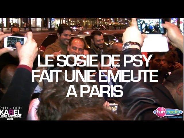 Le sosie de PSY fait une émeute sur les Champs-Elysées