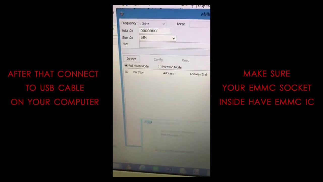 How to use eMMC SOCKET by GSMKEY