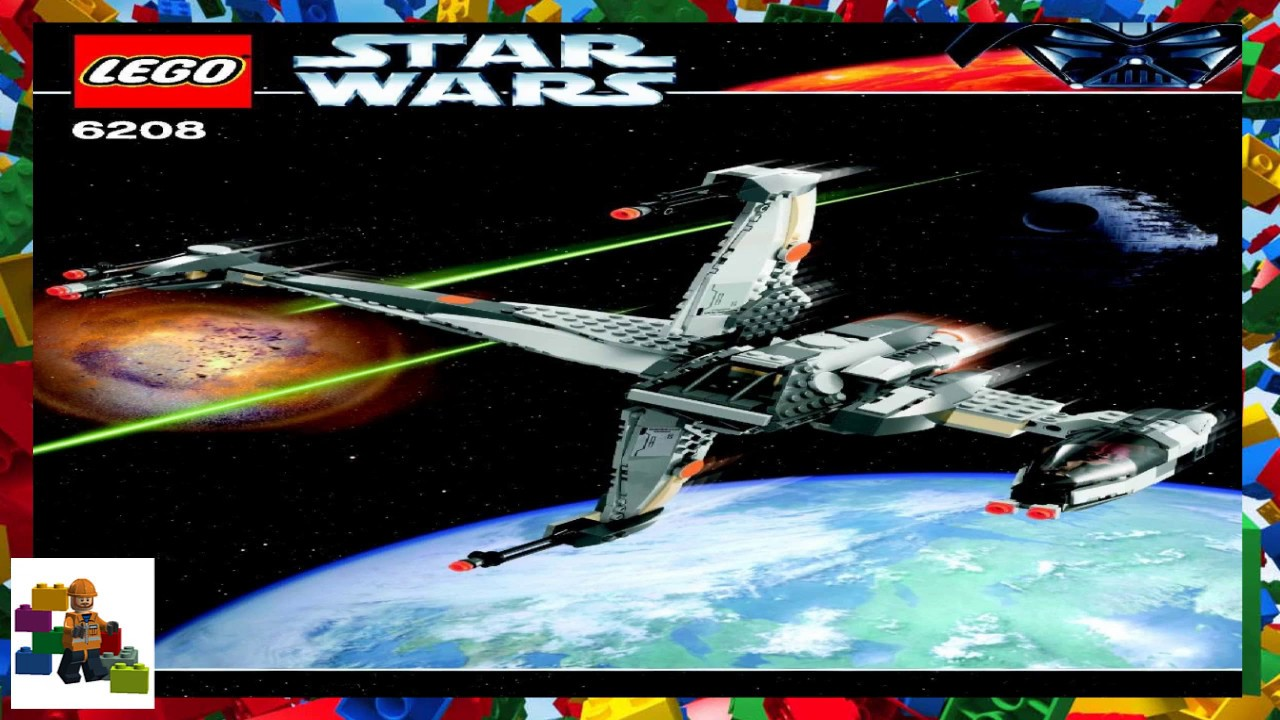Lego Instructions Star Wars 6208 B Wing Fighter Youtube