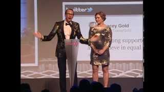 Tracey Gold & Carson Kressley at the GLAAD Media Awards #glaadawards