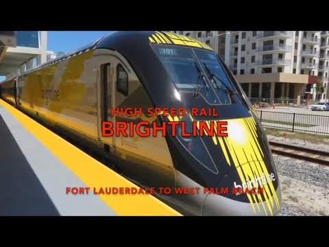 Ride Brightline High Speed Rail Train from Ft Lauderdale to West Palm Beach