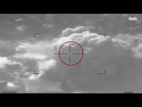 فيديو: طيران التحالف العربي يقصف قيادات حوثية وتجمعات مسلحين قبالة مدينة نجران