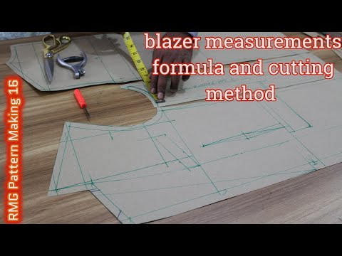 DIY   Blazer Measurements Formula And Cutting Method