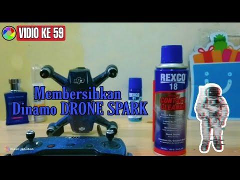 Tutorial membersihkan dinamo/motor DJI SPARK dengan Rexco 18 Indonesia
