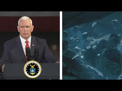 Mike Pence's Moon Speech With Halo In It