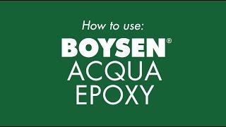 How to use: BOYSEN Acqua Epoxy