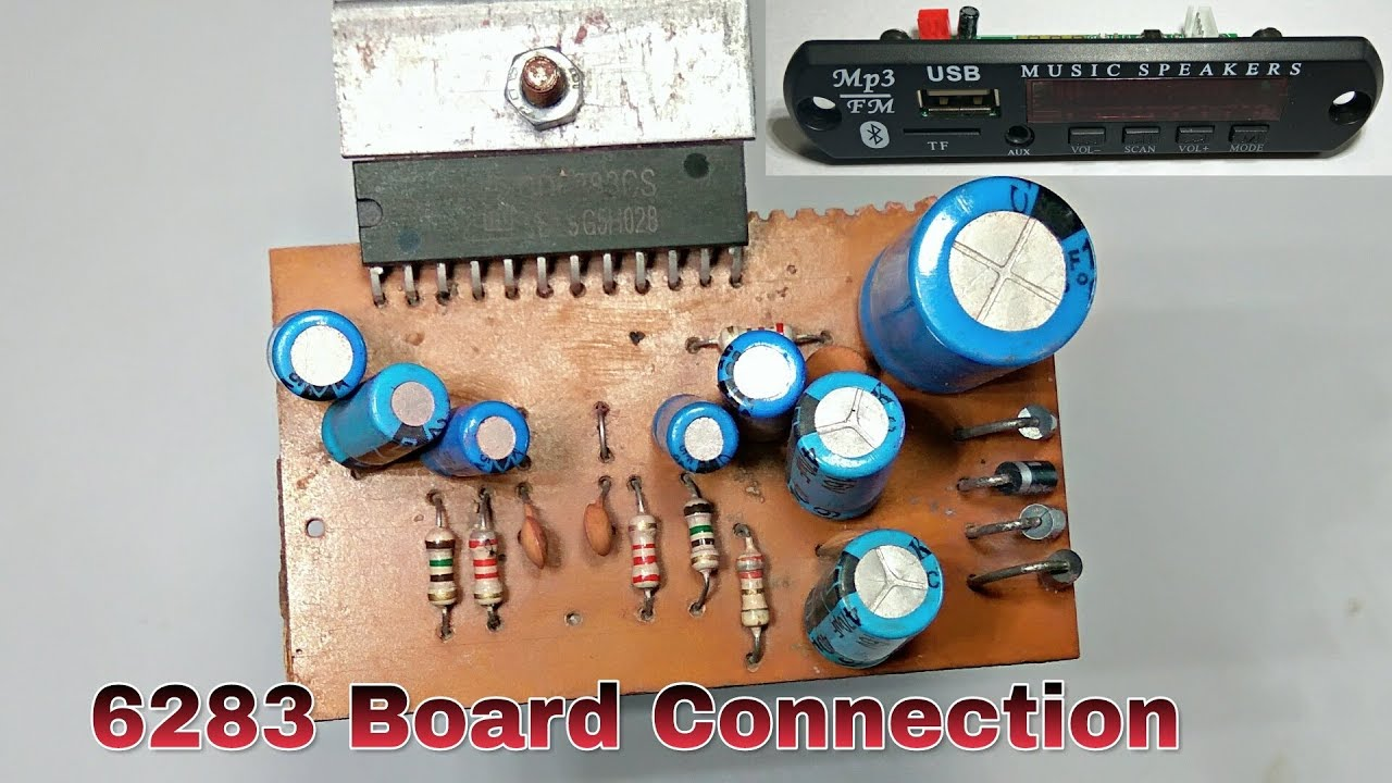 6283 audio board connection and test with bluetooth card