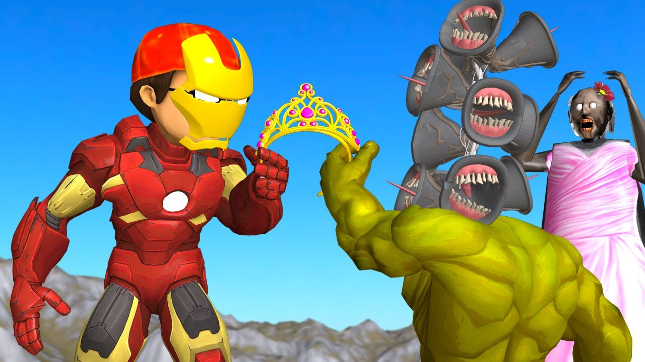 IronMan Nick vs Siren Head Mods Hulk Love Granny - Scary Teacher 3D Best Troll Animation