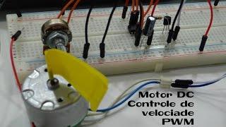 Eletrônica em Etapas (E16) - Controle de velocidade Motor DC PWM (CI 555)