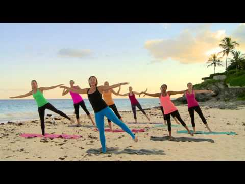Sunset Beach Barre Workout - Part 1 - Thighs, Glutes, Arms, & Love Handles