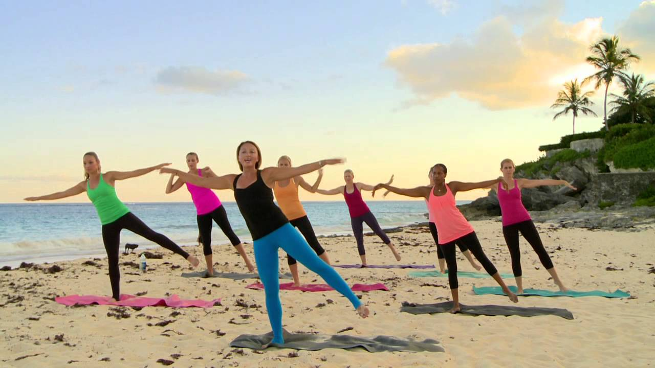 Sunset Beach Barre Workout Part 1 Thighs Glutes Arms