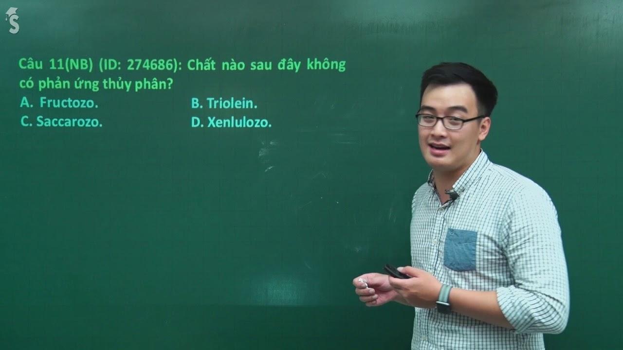 Đề thi học kì 1 môn Hóa lớp 12 – Sở GD&ĐT Đà Nẵng (năm 2017 – 2018) – Thầy giáo: Phạm Thanh Tùng