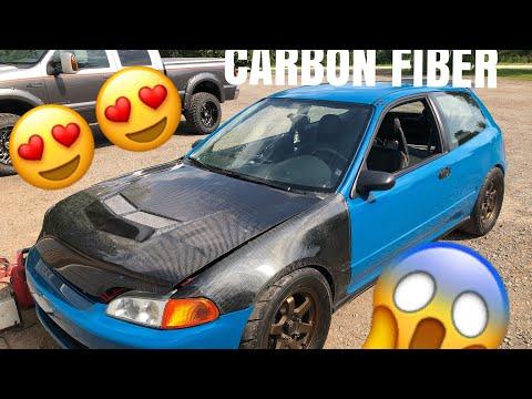 Full Carbon Fiber Honda Civic : Hatch gets Assembled After Fresh Paint Job
