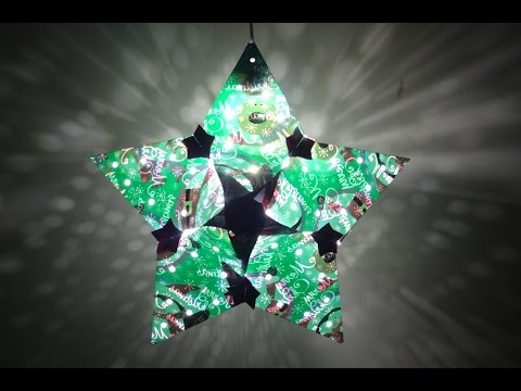 Paper Crafts(Home/Christmas Decoration Ideas): Christmas Star Lantern