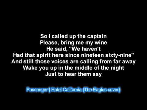 Passenger | Hotel California (The Eagles cover) LYRICS