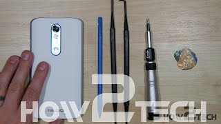 Motorola Droid Turbo 2 Battery, Screen assembly, Back cover Teardown - Disassembly