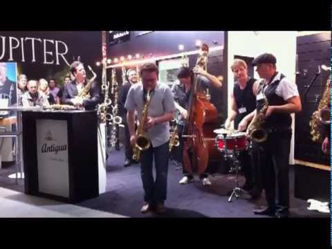 Antigua Winds Power Bell Saxophones at musikmesse 2012