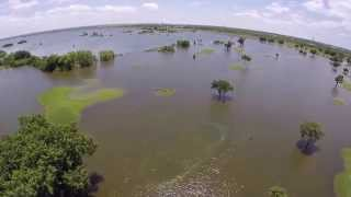 Drone View Dallas Flood 2015 Lake Lewisville Golf Course Lawson Loveland