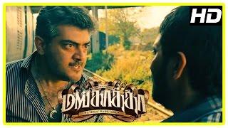 Mankatha Tamil Movie | Stolen money is lost | Ajith and Vaibhav fight | Arjun saves Vaibhav | Trisha