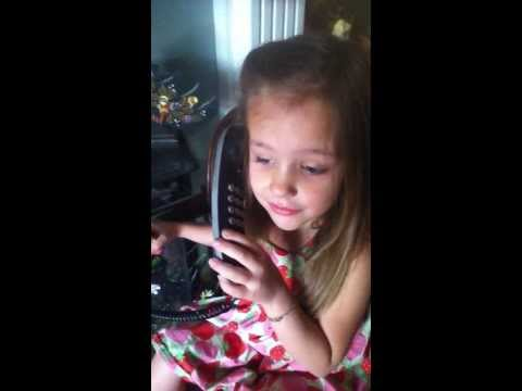 Adventures with Autism: Lily Grace Phone Call from Santa Claus Christmas 2013.  Autistic