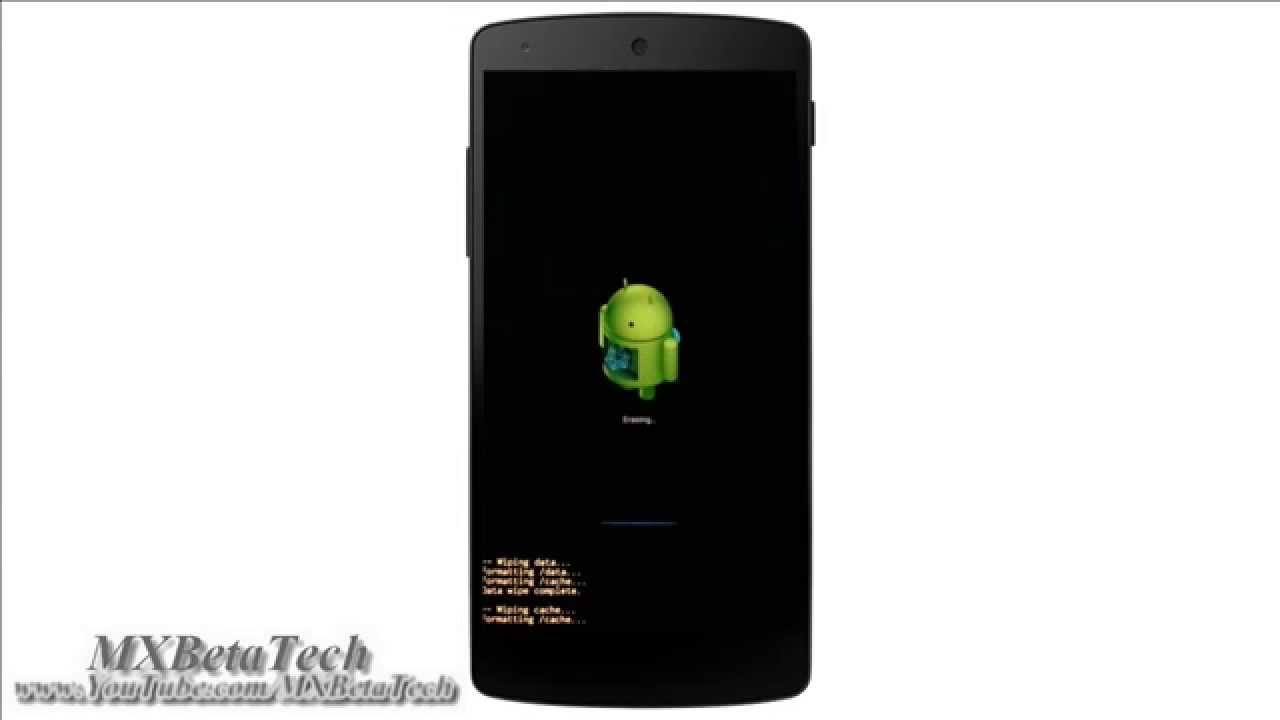 Google Nexus 5 : How To Hard Reset And Wipe All Data [recovery]
