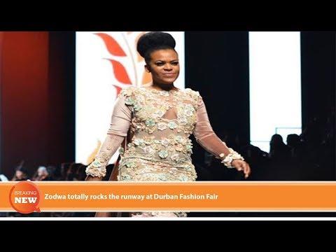 Hot new: Zodwa totally rocks the runway at Durban Fashion Fair