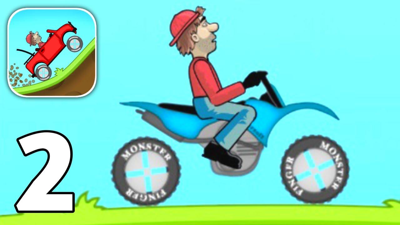 Hill Climb Racing #2 (Motocross Bike) - Gameplay Walkthrough (iOS/Android)