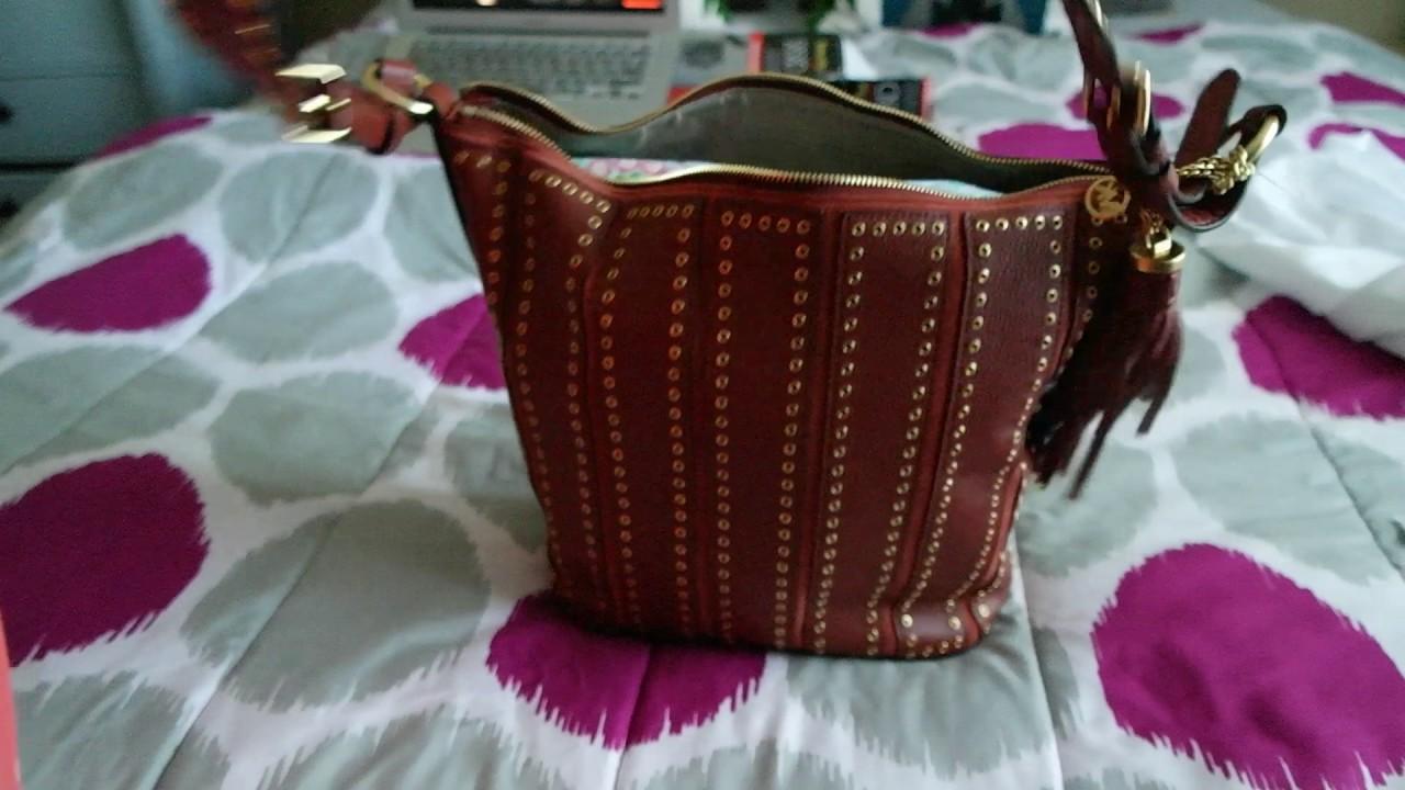 806aa305661c MICHAEL Michael Kors Brooklyn Large Grommet Leather Feed Bag - BRICK ...