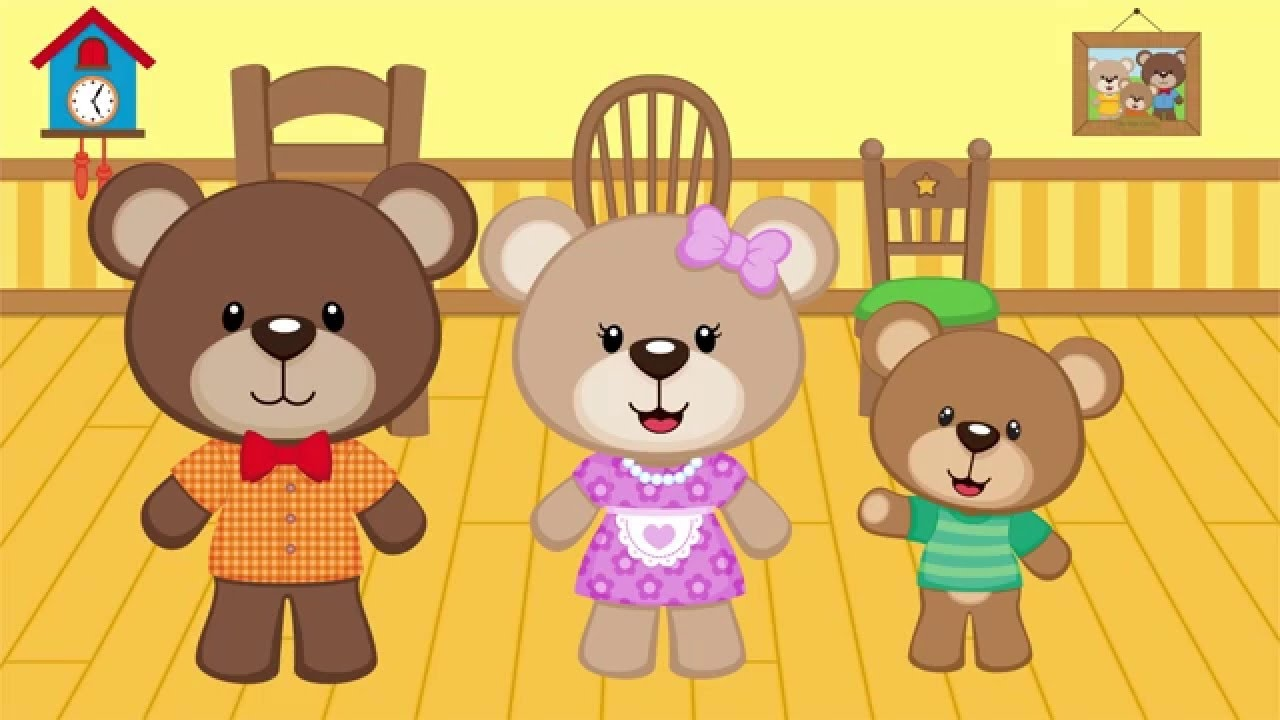 Uncategorized Goldilocks And Three Little Bears goldilocks and the three bears kids learning videos youtube videos