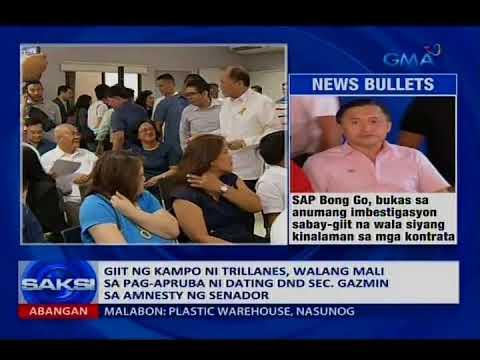 DND Sec. Lorenzana: Pwedeng ituwid na lang kung may hindi nasunod sa proseso ng Trillanes amnesty