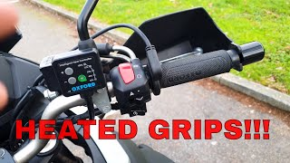 Oxford Heated Grips Review - V Strom 650