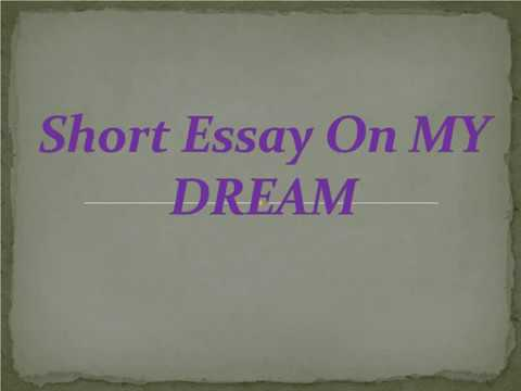 An essay on a dream