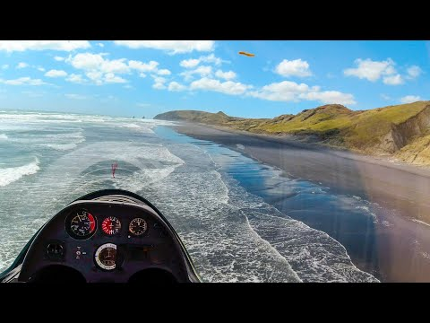 Surfing The Coast Of New Zealand By Sailplane