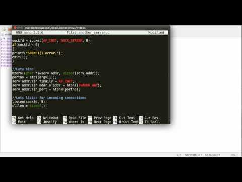 how to create a client server application in c
