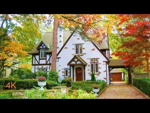 BEAUTIFUL Old Toronto Neighborhood Homes and Home Decor - The Kingsway affluent Toronto areas 4K