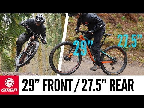 Mountain Bike Wheel Size Experiment   Riding With A 29er Front & 27.5 Rear