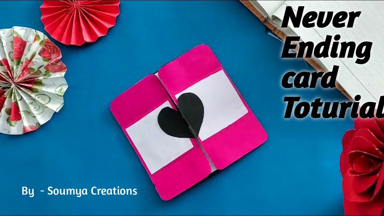 never ending card  handmade card  diy card   youtube