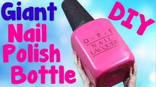 ... ! learn how to make diy giant opi nail polish bottle that you can use a...
