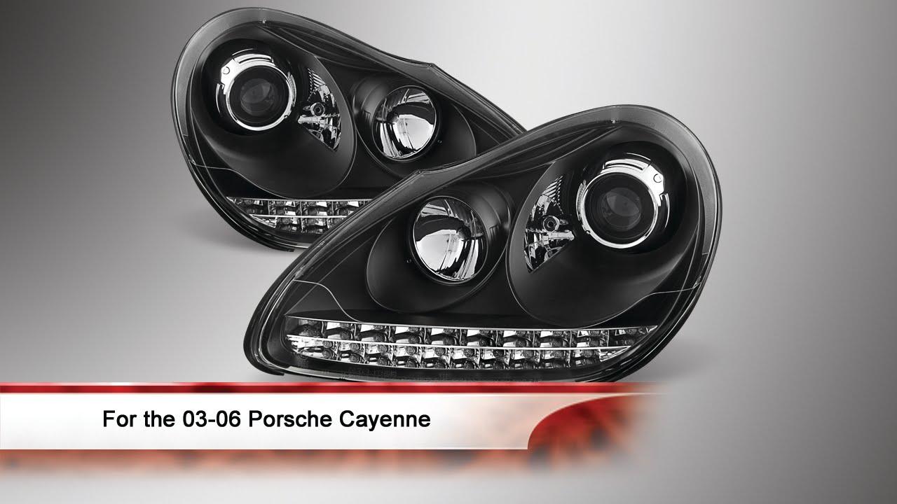 03 06 porsche cayenne led s drl projector headlights