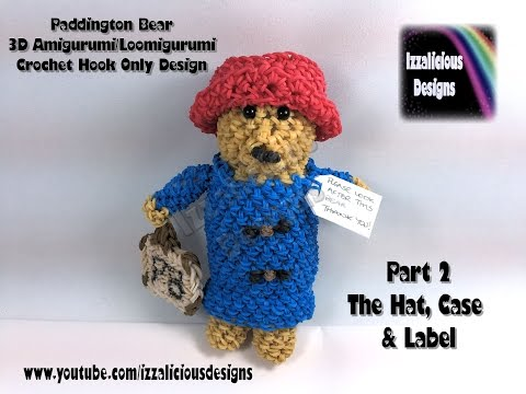 Amigurumi Paddington Bear : Rainbow Loom 3D Paddington Bear Doll Amigurumi/Loomigur ...