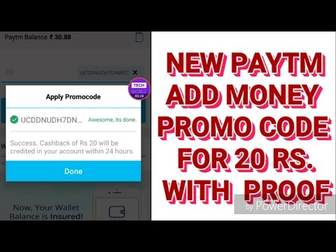 New Add money Promo code For PAYTM with PROOF 100% work hurry