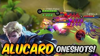 FULL DAMAGE BUILD ALUCARD ONESHOT ENEMIES?! - MOBILE LEGENDS