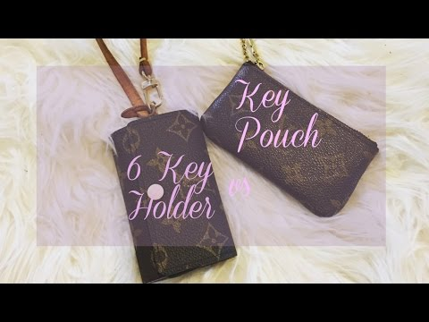 976844be Louis Vuitton 6 Key Holder vs Key Pouch + Demo   luxyglamlife