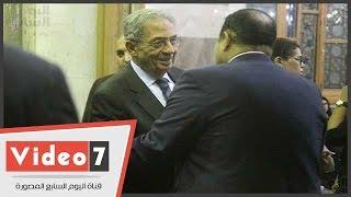 عمرو موسى والعوا ووحيد حامد ومحمد سلطان  يؤدون واجب العزاء فى رحيل فاروق شوشة