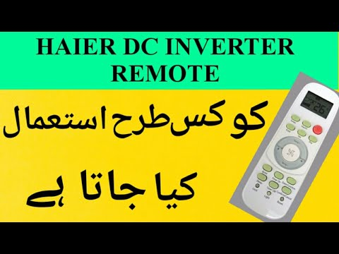 Haier DC inverter 1.5 ton remote review ups model