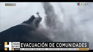 #ÚLTIMAHORA Evacúan comunidades cercanas al volcán Pacaya, en Guatemala.